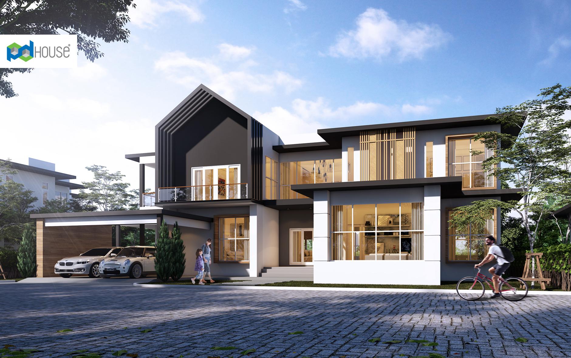 Beautiful House Design Plot 27x22 meters 5 Bedrooms