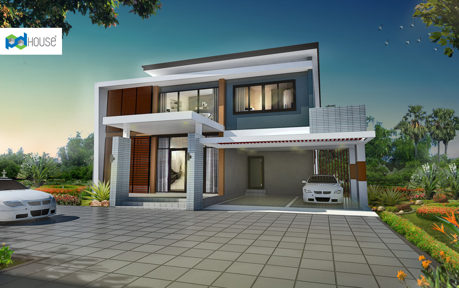 Modern House Design 18x24 with 3 Bedrooms
