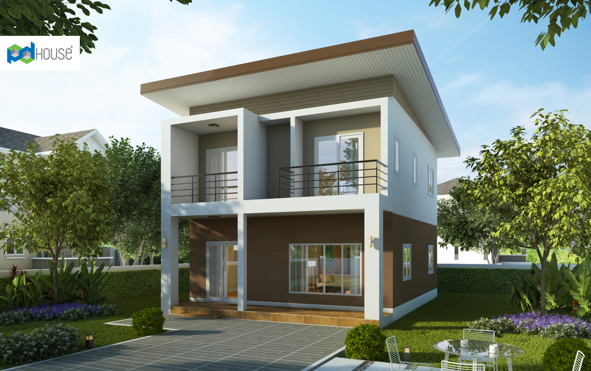 Small House Design 7x9.5 with 3 Bedrooms