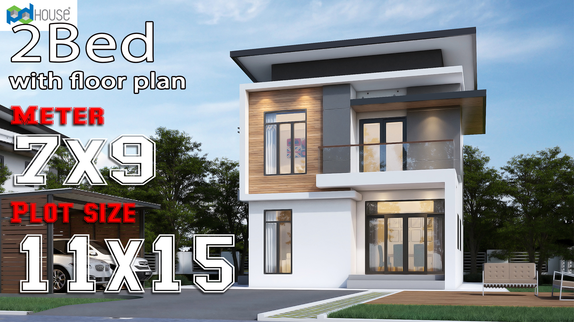 Small Modern House 7x9 Meter 2 Bedrooms